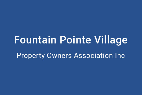 Fountain Pointe Village HOA
